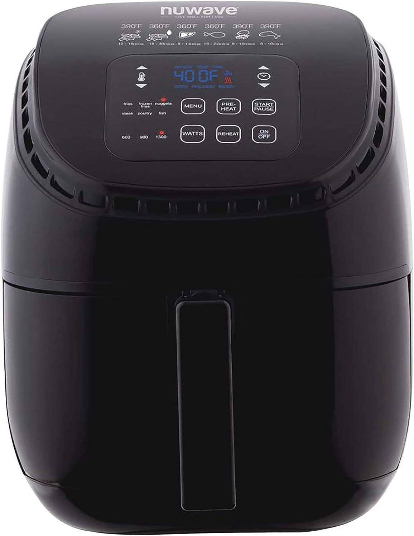 NuWave 36011 3-Qt. Brio Air Fryer, Black (Renewed)