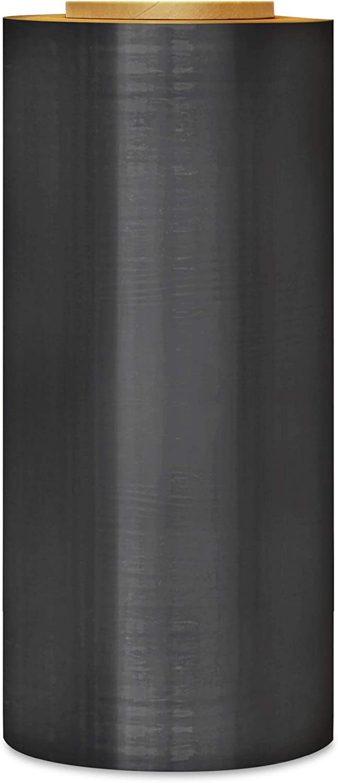 Pallet Packing Plastic Wrap 63 Gauge 20 Inch x 5000 Feet 25 Rolls Cast Machine Stretch Film Black