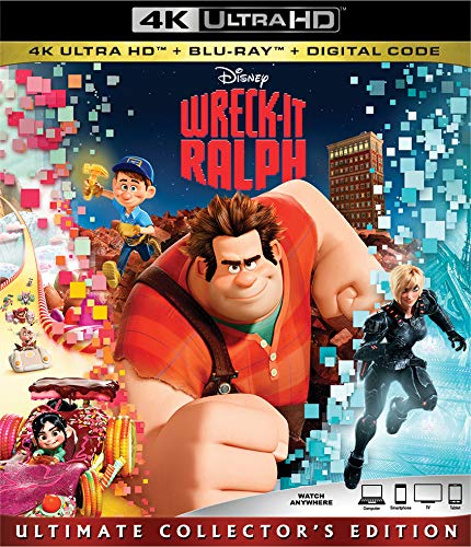 4K Blu-ray : Wreck-it Ralph (With Blu-ray, 4K Mastering, Ultimate Edition, Collector's Edition, Digital Copy)