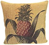 Corona Decor French Woven Pineapple Feather and Down Filled Decorative Pillow by Corona Decor Co.