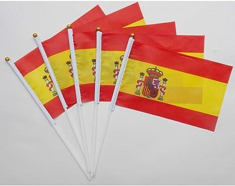 KOONARD España Bandera nacional con bandera de plástico bandera ...