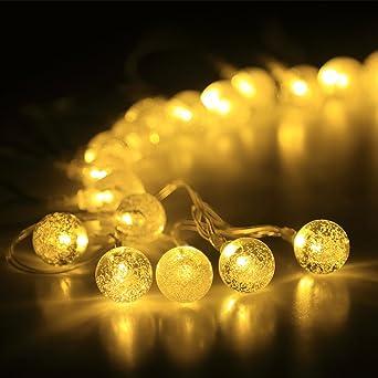 innoo tech guirnaldas luces navidad 3m 30 led bolas blanco clido bombiilas luminosas para decoracin de - Guirnaldas De Luces