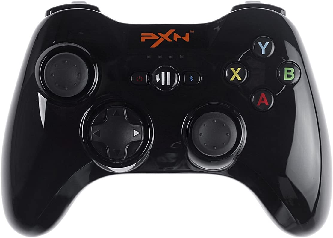 Apple MFi Certified - PXN PXN-6603 Speedy Wireless Bluetooth Gamepad Game Controller Made for iPhone/ iPad/ iPod touch/ New Apple TV (4th generation) Color Black