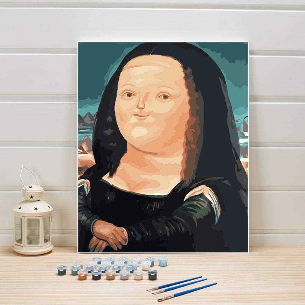YJJPP Pintar por número en Lienzo DIY Pintura al óleo Figura Imagen de Dibujos Animados para Dormitorio Pared niños habitación decoración Artes Manualidades Adultos Mujer 40x50 cm Enmarcado