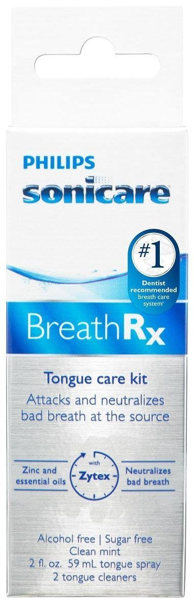 Philips Sonicare Breathrx Philips Sonicare BreathRx Daily Tongue Care Kit-  DIS359/03 (2oz bottle+2 Tongue Cleaners)