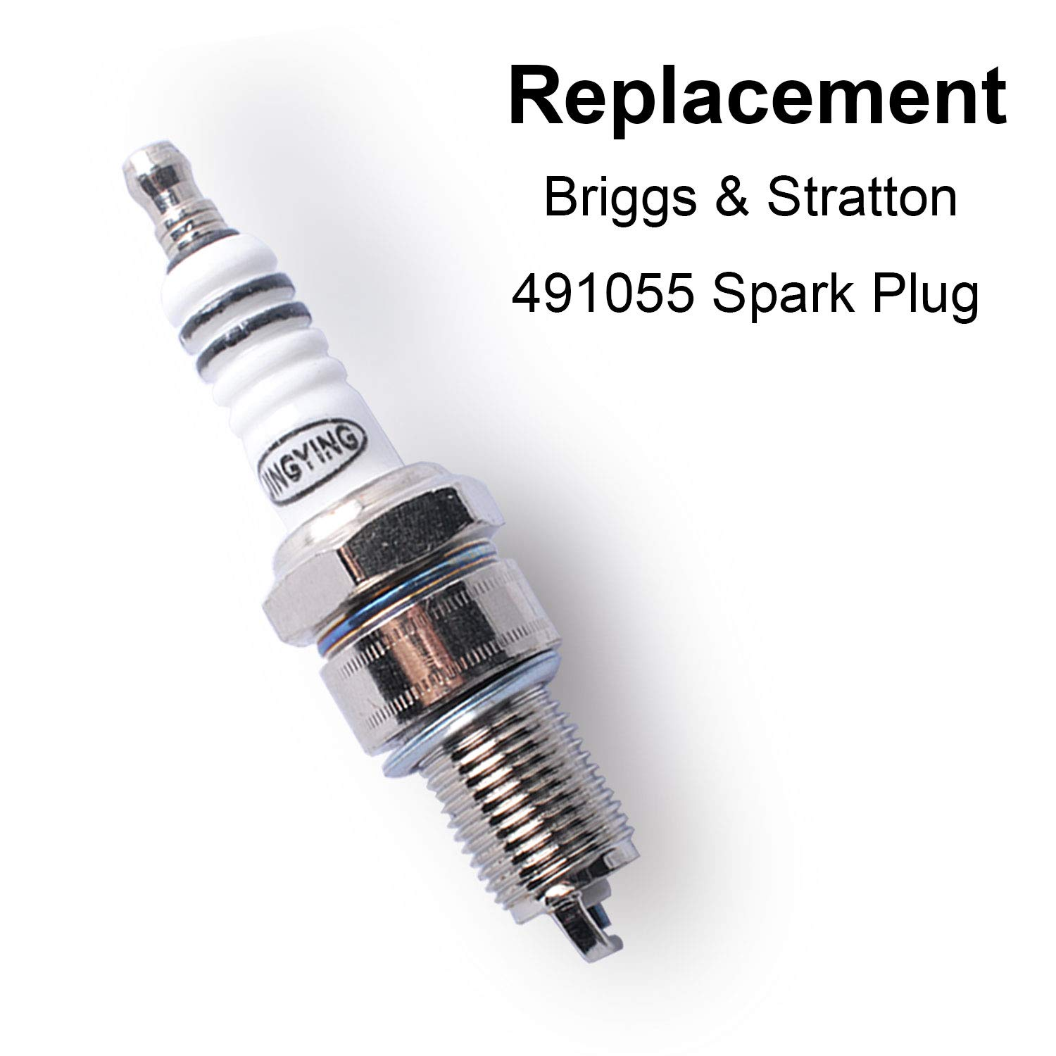 Compatible with Briggs /& Stratton 491055 Spark Plug Replaces 805015//72347//491055//Champion RC12Y-6 Pack