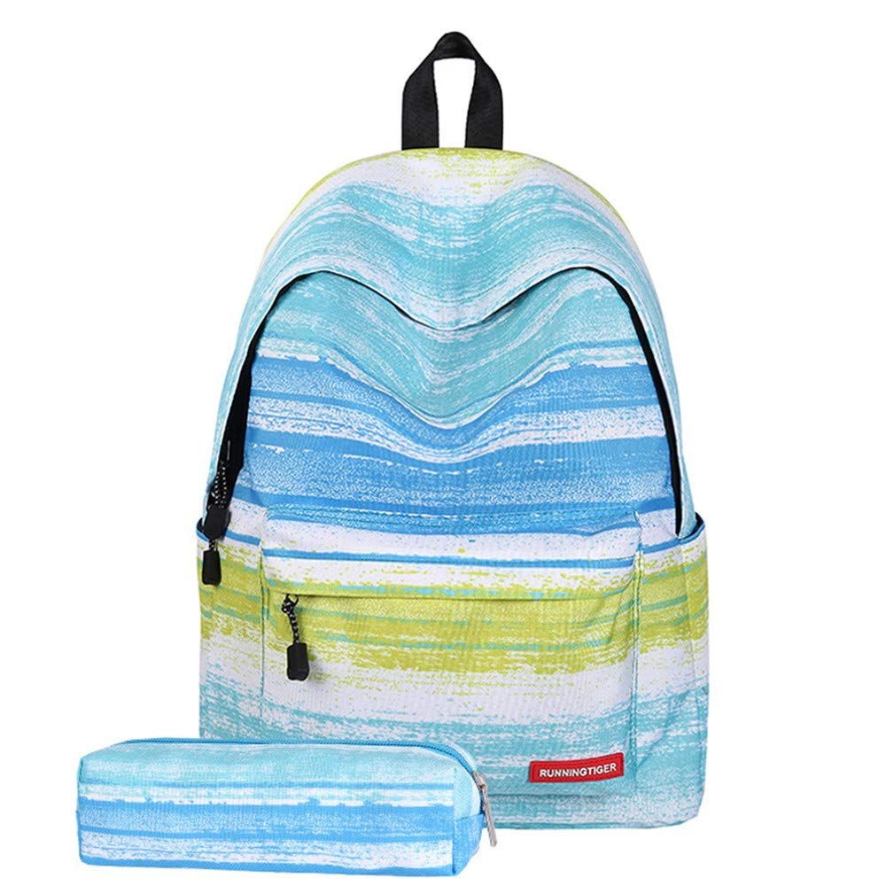 Travel Backpack Carry On for Girls,MeiLiio Fashion Durable Backpack Canvas School Bags with Pencil Case for Teenagers Girls Boy Women