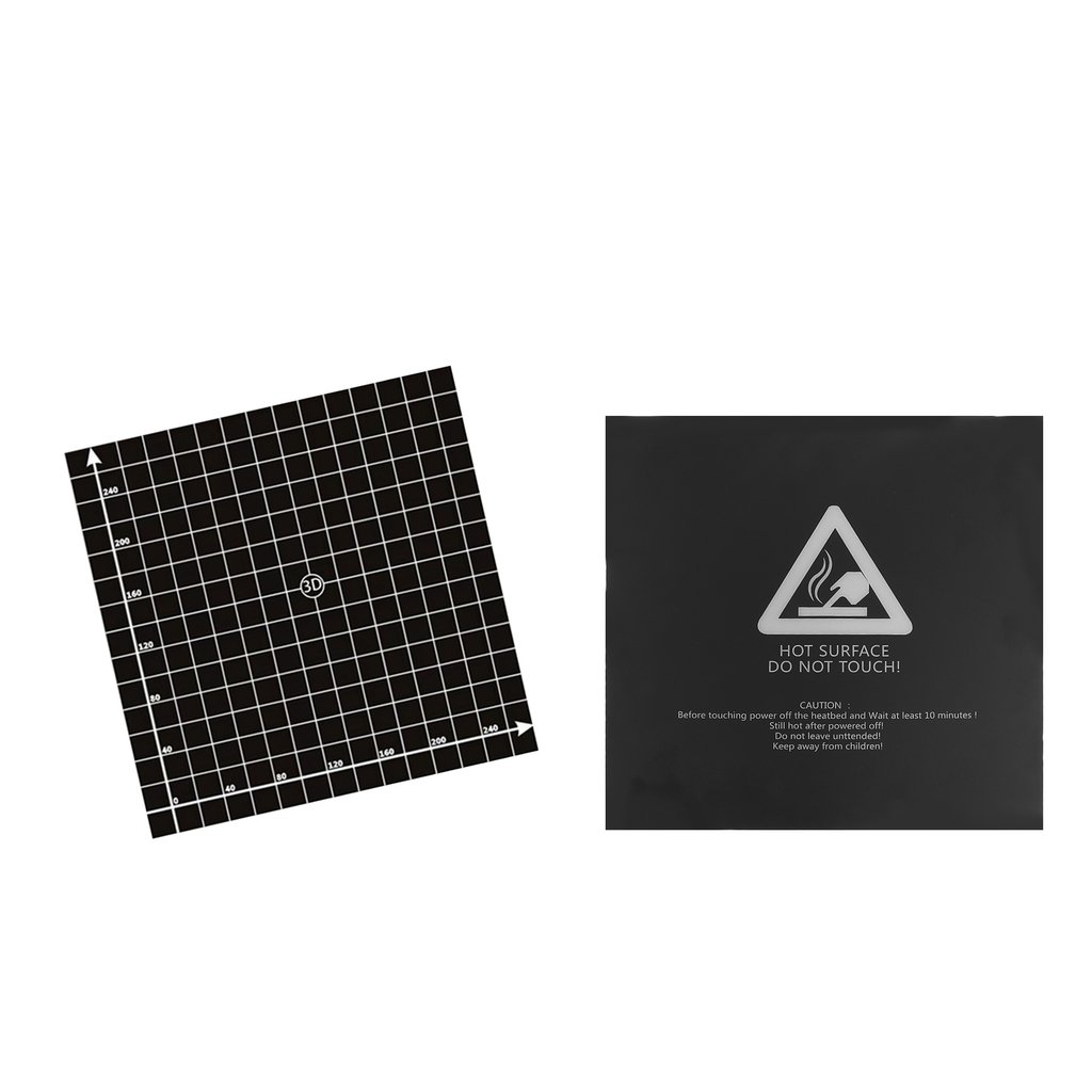 perfk 2Pack Reusable 3D Printer Build Surface for Heated Bed Square 300mmx300mm