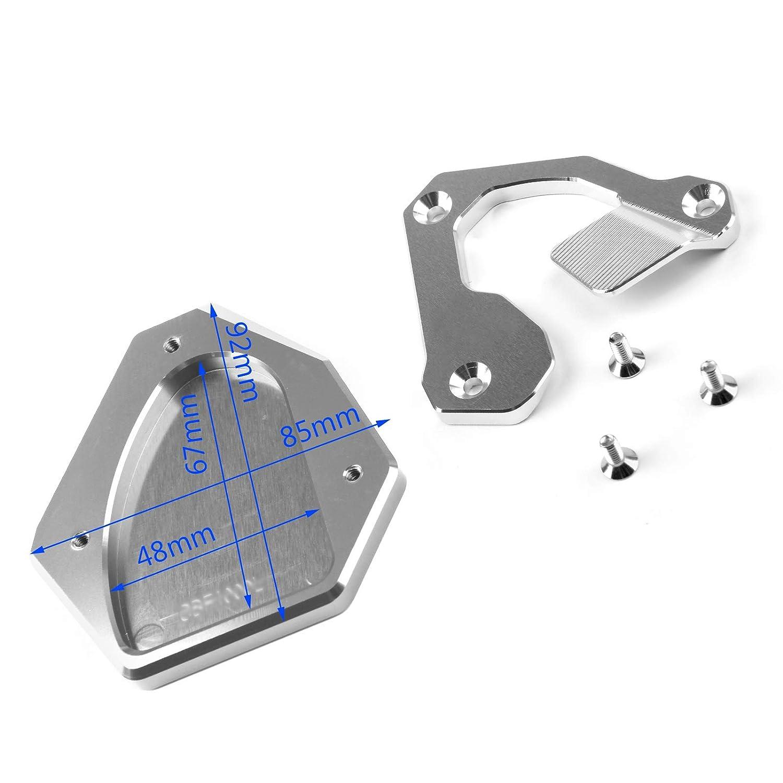 En aluminium CNC Topteng Pour Hon-da CRF1000L Africa Twin 2016-2017 Support de b/équille lat/érale pour moto