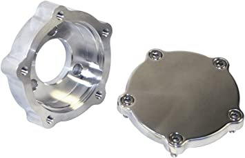 Compatible with Dune Buggy Shaped 2 Piece 3 Bolt To 5 Bolt Steering Wheel Adapter