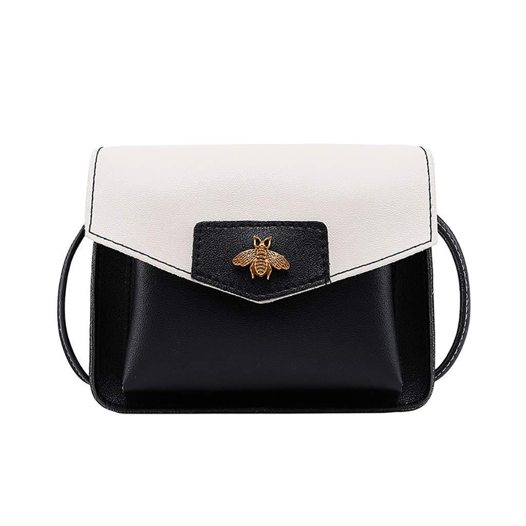 Women Contrast Laminated Single Shoulder Bag Messenger BagHandbags&Clutches&Evening Bags