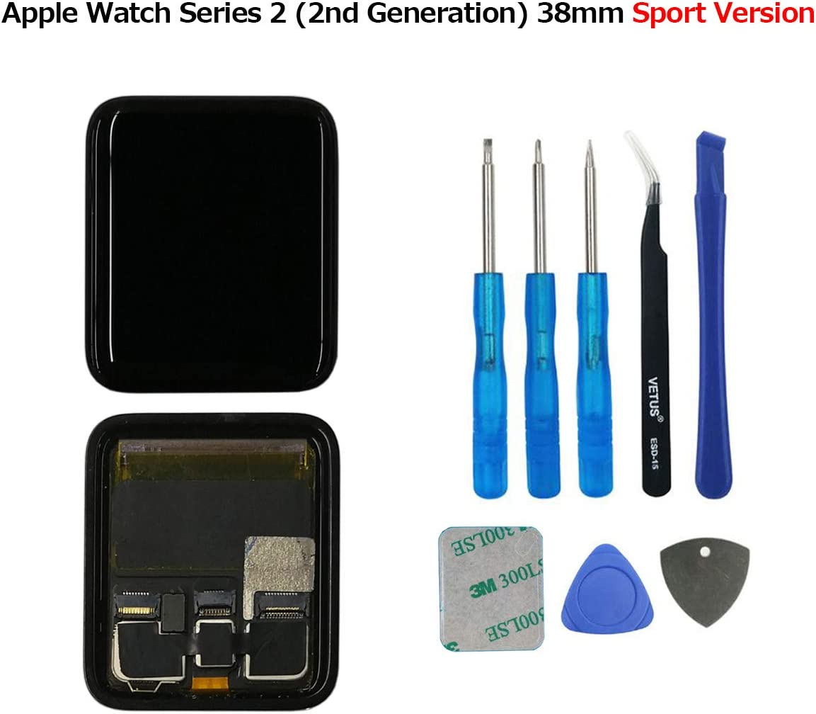 SWARK LCD Display Compatible Apple Watch Series 2 (2nd Generation) 38mm Sport Version LCD Screen Digitizer Assembly Tools