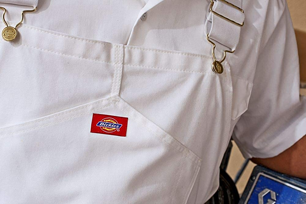 57535a0333f2 Amazon.com  Dickies Men s Painters Bib Overall  White Men Overall  Clothing