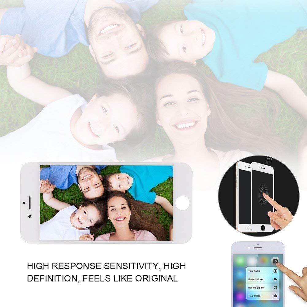 Negro pel/ícula de Vidrio Templado FLYLINKTECH Pantalla T/áctil LCD Reemplazo para iPhone 6 Plus Negro 5.5 Contiene Herramientas