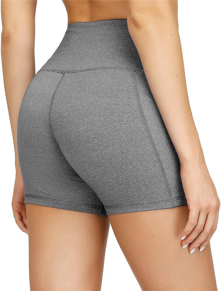 Damen Sport Leggins Hohe Taille Tights 3//4 Yogahose Blickdichte Kurz Laufhos Fitness Hosen Jogginghose mit Taschen Short
