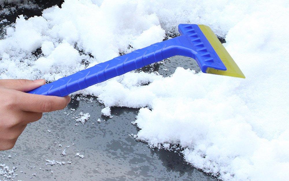 pala de nieve para coche, K-youth® invierno retiro durable de la pala del cepillo de la nieve del raspador del hielo de la nieve del vehículo del coche retiro (Azul)