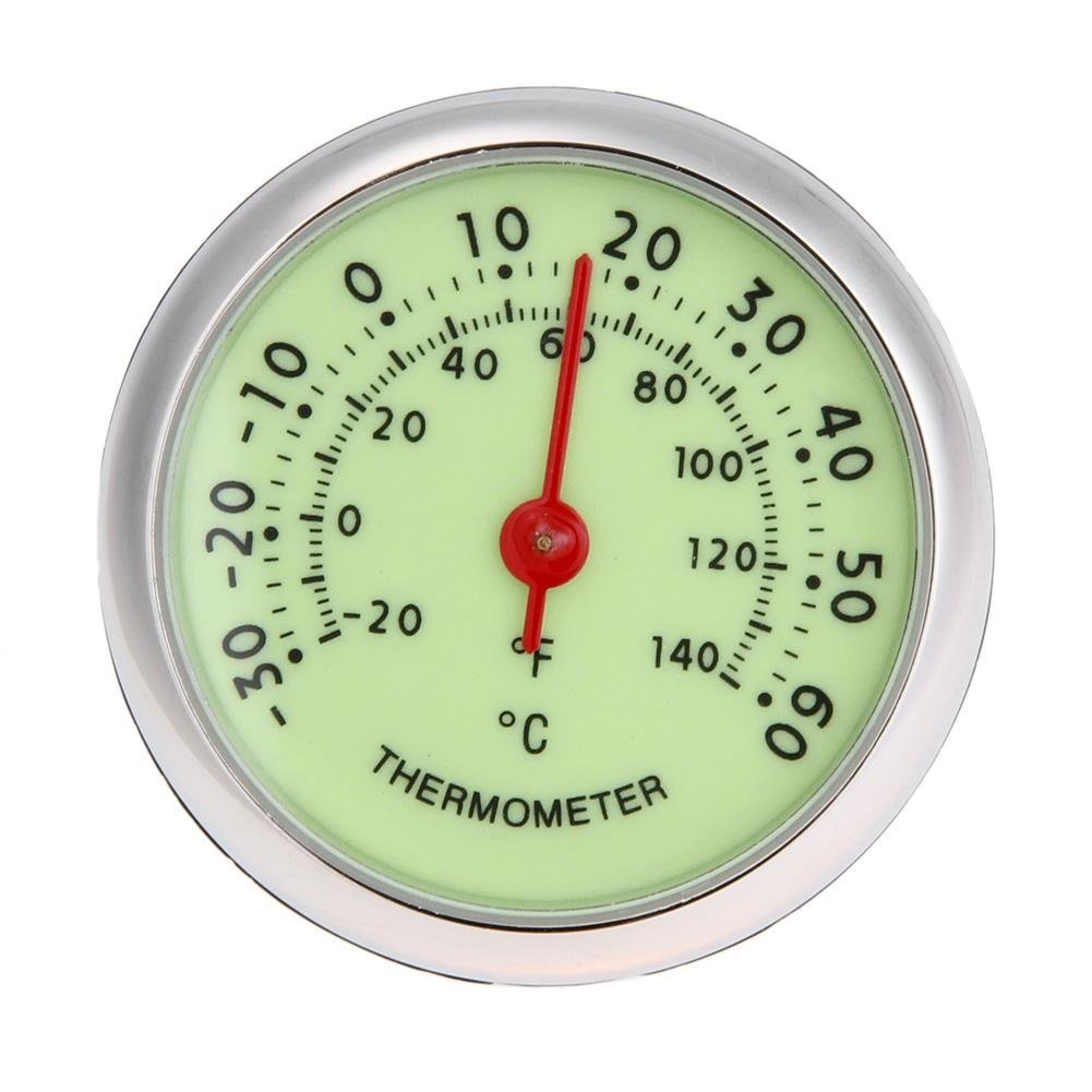 Alloet Universal Fluorescent Car Auto Analog Thermometer ℃/℉ Temperature Meter