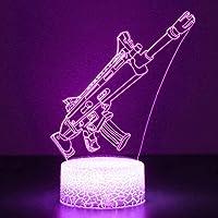 3D Fortnited Lamp Battle Bus RGB Mood Lamp 7 Kleur Lichtvoet Acryl Stereo Illusie LED Tafel Nachtlampje