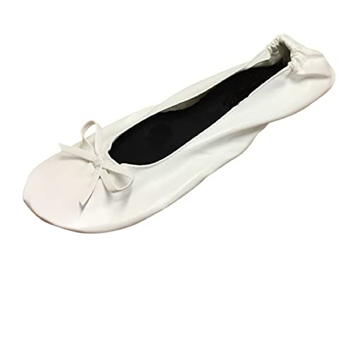 1583ee1ca51ad White Foldable Flats Shoes Ballet Flats - Expandable Tote Bag for High  Heels Folding Wedding Shoes