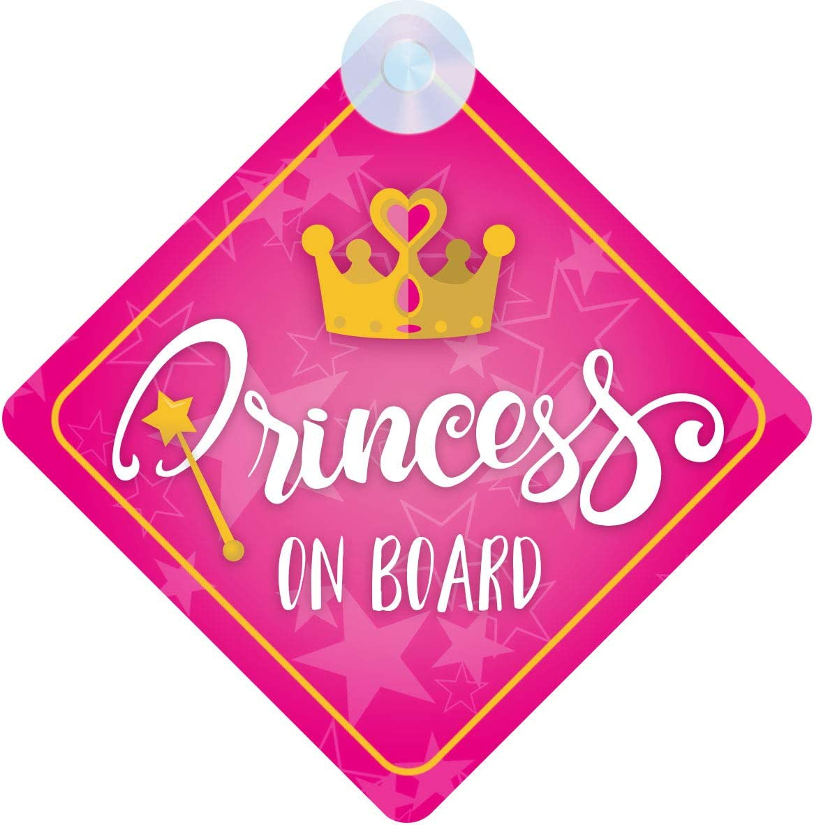 mybabyonboard UK Princess On Board Pink with Crown 021 Non Personalised Car Sign New Baby Girl//Child Gift//Present