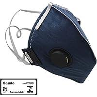 Máscara Respiradora Semifacial PFF2 Carvão Valvulada-PROSAFETY-1700