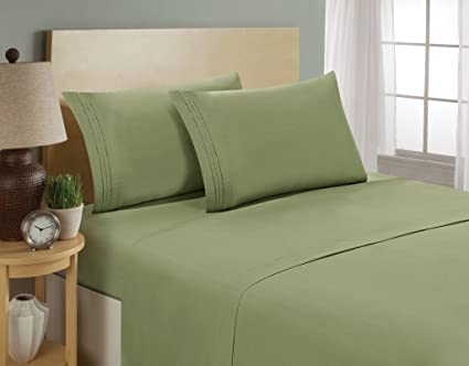 Highest Quality #1 Bed Sheets Set  SOFTEST ALOE VERA INFUSED 1800 Series Bedding  Set