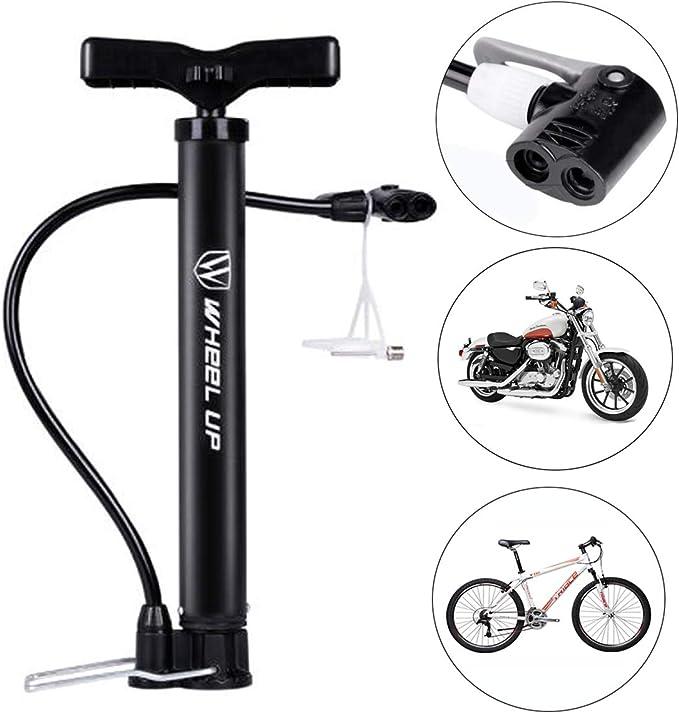FATO. La rueda hacia arriba portátil bici de la bicicleta bomba de ...