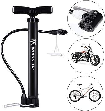 FATO. La rueda hacia arriba portátil bici de la bicicleta bomba de aire de la bola de mano para inflar con aire de alta presión: Amazon.es: Bricolaje y herramientas