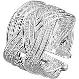 Mes-Bijoux-Bracelets Bague Anneaux Multiples Argenté Argent Sterling 925 000  Cadeau Femme Bijou Fantaisie Haut de… 0cdfc61261b5