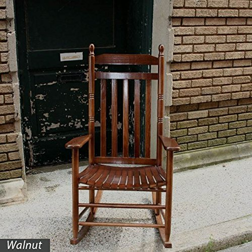 Slat Seat Adult Rocker - Walnut