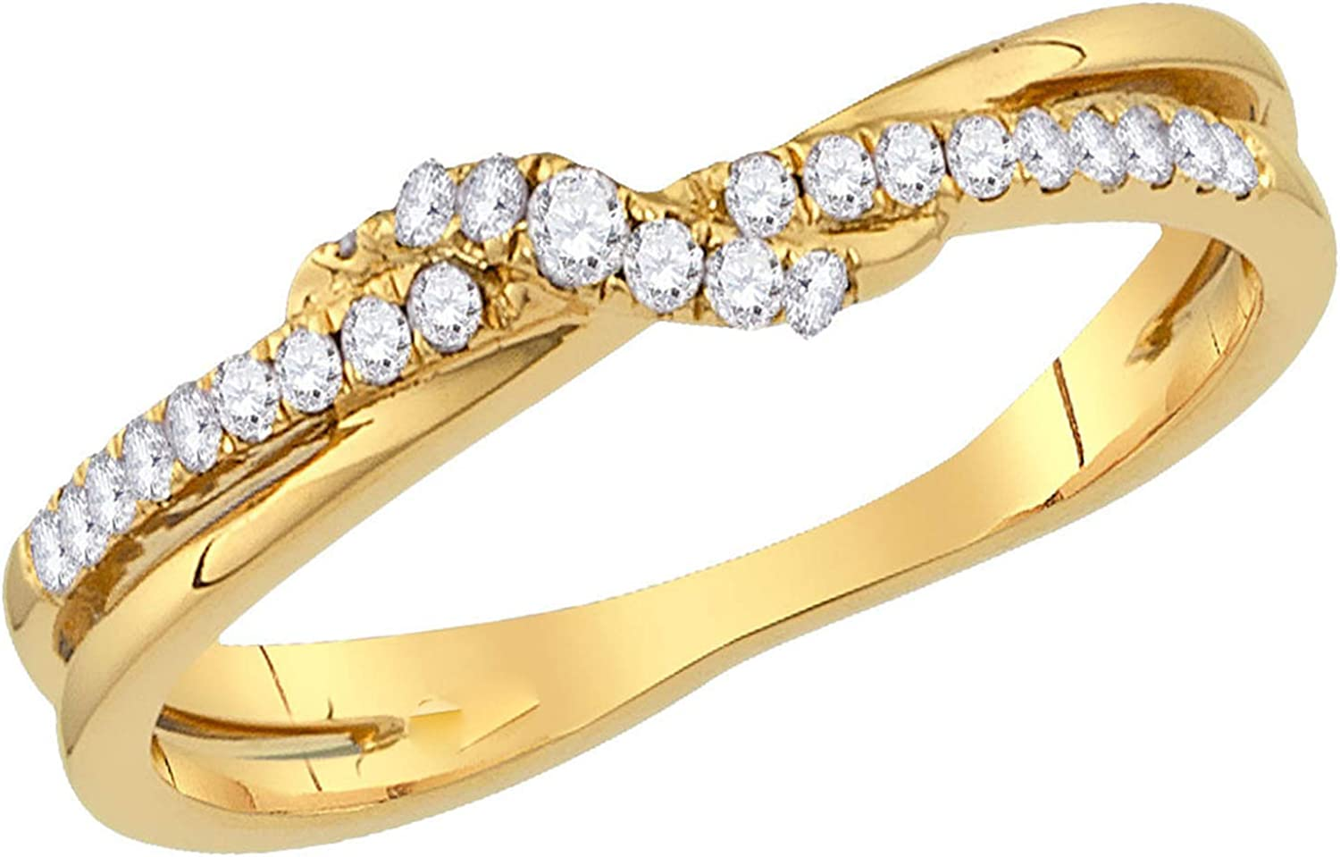MD Jewellery Fashion Ring 14K Yellow Gold Plated Simulated Diamond Studded Alloy Jewellery