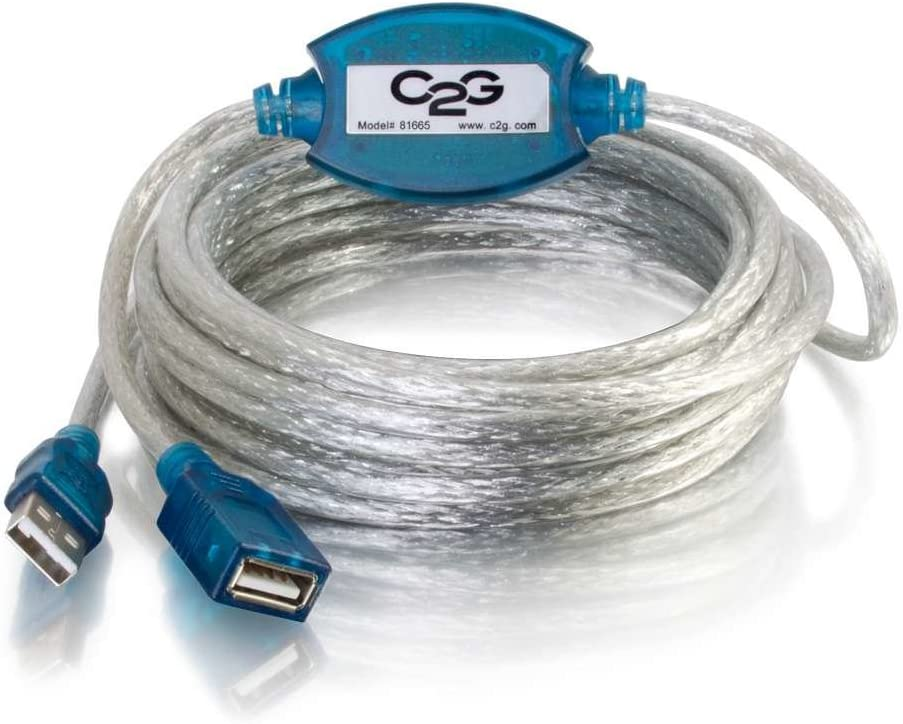 C2G 5m USB A Male to A Female Active Extension Cable