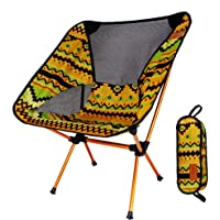 TSSM Tragbarer Leichter faltender kampierender Stuhl, Fischen-Stuhl-Aluminiumlegierungs-ultraleichter tragbarer Freizeit für das Wandern des Bergsteigen-Grills