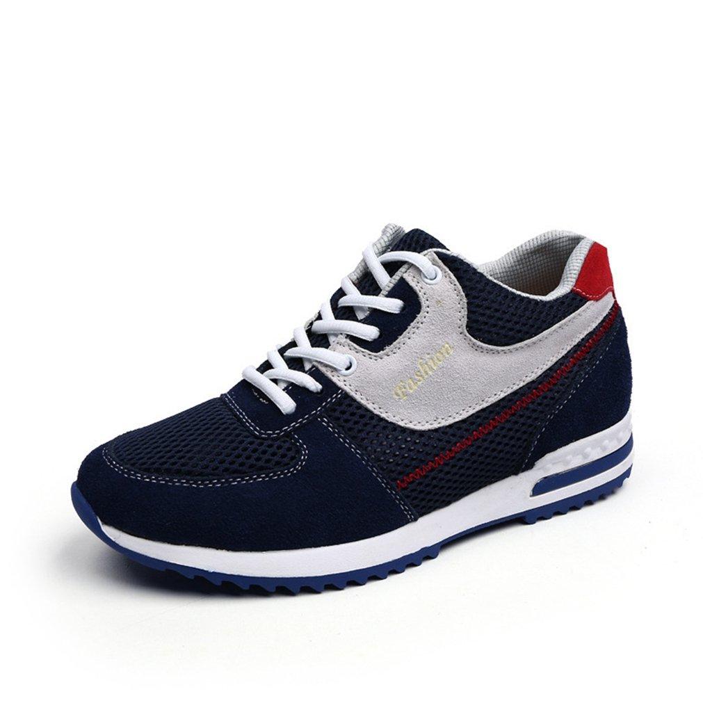 Homme basket mode compensé chaussure de sport 6CM maille respirant chaussure de running jogging course voyage marche légère tendance