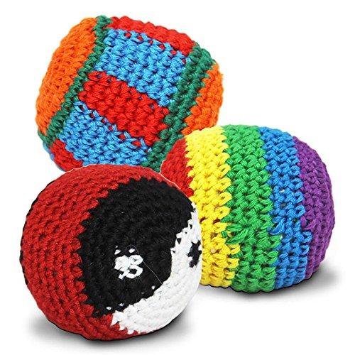 42005, 6 Stück Kickball, Jonglierball, mit Strickbezug