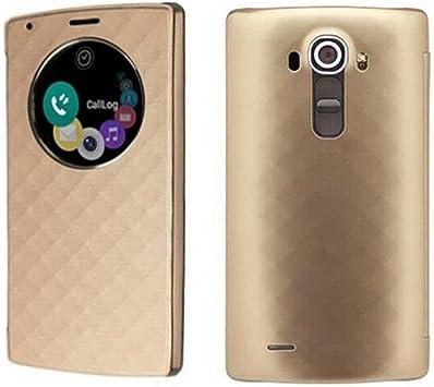 LG G4 Funda, Aimson Smartphone LG Reemplazo Círculo Rápido Funda Trasera con carga inalámbrica Qi Con NFC (oro): Amazon.es: Electrónica
