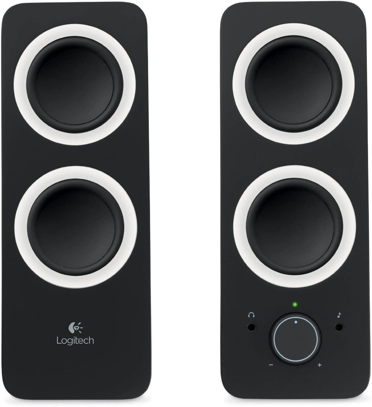 Logitech Multimedia Speakers Z200 with Stereo Sound for Computers/Laptops