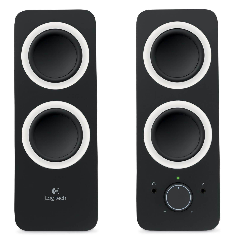 Logitech Z200 2-Piece 2 Channel Multimedia Speaker System, Headphone & Aux Jack - 980-000800 (Certified Refurbished)