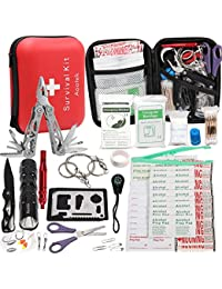Upgraded 188 Pcs first aid kit survival Kit.Emergency Kit...