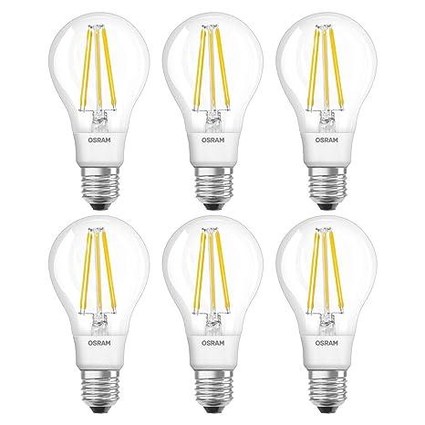 Osram Retrofit Cl A Bombilla LED E27, 11 W, Blanco, 6 Unidades