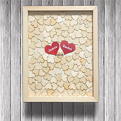 Wedding Guest Book Rustic Heart Frame Drop Box Wooden Heart Guest Book Alternative Guestbooks Personalized Drop Box Unique Guestbook - Wooden Unique Frames