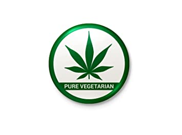 Buy I M A Pure Vegetarian Grass Minimalist Badge Online At Low Prices In India Amazon In