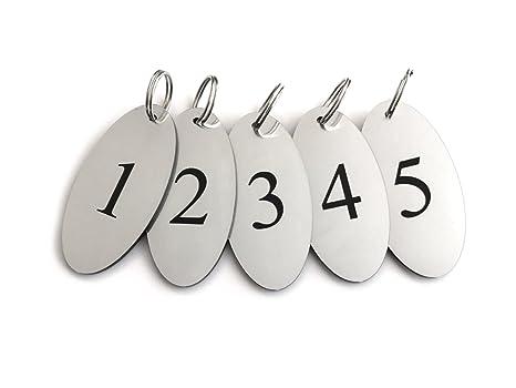 ORIGIN - Llaveros, Etiquetas para Llaves, numerados 1 a 5 ...