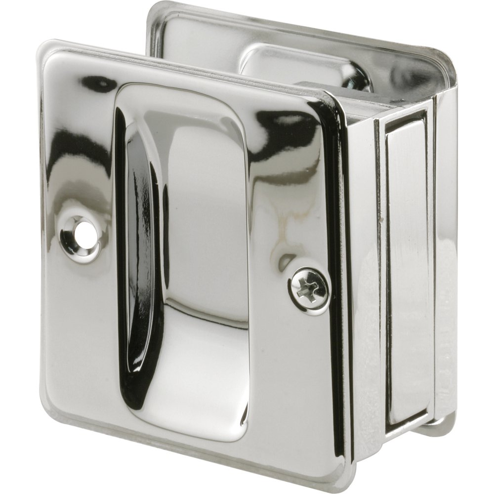 Prime-Line Products N 7085 Pocket Door Passage Pull, Chrome Plated