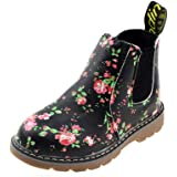 Boy's Girl's Floral Ankle Boots, Waterproof Side Zipper Rain Shoes (Toddler/Little Kid/Big Kid)