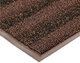 Notrax Vinyl 139 Boulevard Entrance Mat, for Upscale Entrances, 3' Width x 10' Length x 3/8'' Thickness, Brown