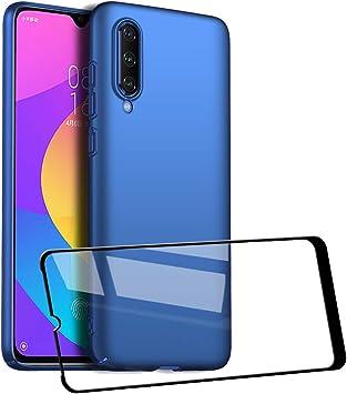 UCMDA Funda Xiaomi Mi A3, Carcasa Xiaomi Mi A3 con Protector de Pantalla, Fundas [Anti-Arañazo] Duro para Xiaomi Mi A3 (Azul): Amazon.es: Electrónica