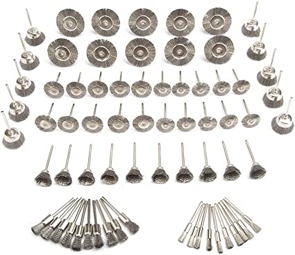 10Pcs 38mm T-shaped Stainless Steel Wire Brushes Set For Polishing Rotary Tool
