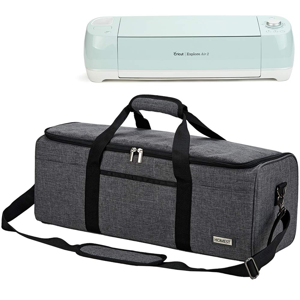 HOMEST Carrying Case Compatible with Cricut Explore Air 2, Cricut Maker, Cricut Explore Air, Grey, Patent Pending