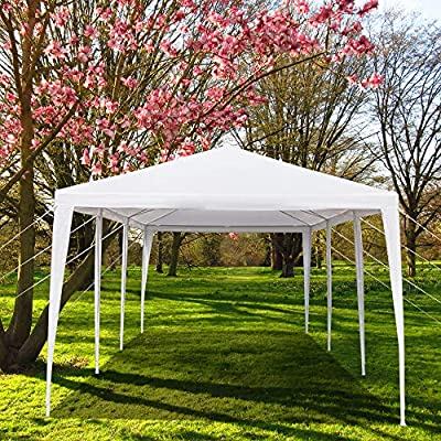 WAFJAMF Outdoor 10'x30' ft Waterproof Wedding Party Tent Canopy Shelter with 5 Sidewalls, PE Frame, White : Garden & Outdoor